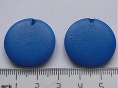 Korálky - Drevené 2,5cm-modrá-1ks - 728378