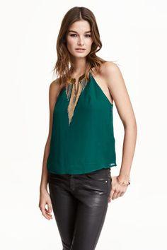 Jewel neck chiffon blouse | H&M
