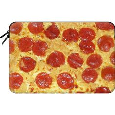 Macbook Sleeve - Delicious Pepperoni / Salami Pizza - Pattern with... ($60) ❤ liked on Polyvore featuring accessories, tech accessories and macbook sleeve