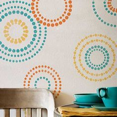 So cute! http://www.royaldesignstudio.com/collections/motif-stencils/products/circling-allover-elements-stencil