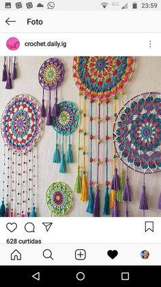 Mandalas crochet - #Crochet #Mandalas