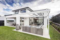 OUTDOOR LIVING / ALFRESCO - Tempus Elite with Timeless Facade on display at Thornton Custom Home Designs, Custom Homes, New Home Builders, Outdoor Living, Outdoor Decor, Investment Property, Scandinavian Style, Fences, Facade