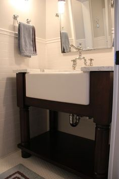 Really Like The Gray And Overhang Sink Bathroom Redo Pinterest A Front Buffet Sinks