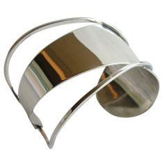 PAUL LOBEL Sterling Silver Cuff Bracelet | From a unique collection of vintage cuff bracelets at http://www.1stdibs.com/jewelry/bracelets/cuff-bracelets/