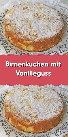 Pear Cake with Vanilla Frosting - Cake & Cake Recipes - Chicken Recipes - Pear cake with vanilla icing – cake & cake recipes – cake - Mexican Breakfast Recipes, Healthy Dessert Recipes, Easy Desserts, Cake Recipes, Vanilla Icing, Vanilla Flavoring, Icing Ingredients, Pear Cake, British Baking