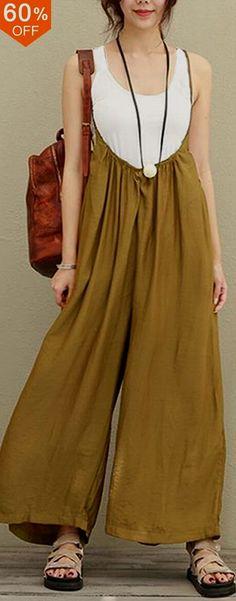 Women Casual Sleeveless Strap Baggy Wide Leg Pant Jumpsuit Rompers. #women #leggings #fashion Guatemala Доступ к нашему сайту намного больше информации https://storelatina.com/guatemala/blog