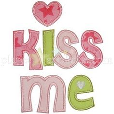 Jan'15 Planet Applique - Kiss Me Heart Applique