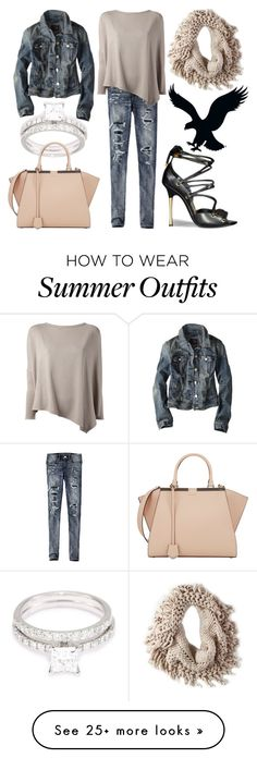 """Winter Wanderlust with American Eagle: Contest Entry"" by ginshelyn on Polyvore featuring American Eagle Outfitters, Helmut Lang, Tom Ford, Kobelli, Fendi, contest, denim, TOMFORD and aeostyle"
