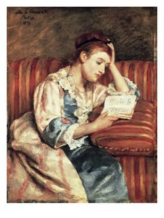 """Young Woman Reading"" by Mary Cassatt"