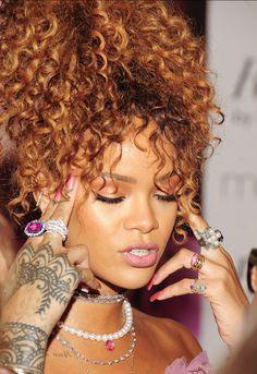 "Rihanna at her ""RiRi by Rihanna"" fragrance launch at Macys in Downtown Brooklyn, NYC (Aug. 31)"