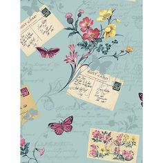 Buy Sophie Conran Postcards Home Paste the Wall Wallpaper Online at johnlewis.com