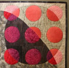 Quilt Inspiration: Quilt Artist Terry Whyte from Kenogami, Ontario, Canada. Going in Circles detail
