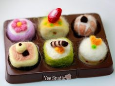 Needle Felting Wool Cake Display DIY Kit B by yeestudio on Etsy, $12.50