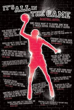 It's All In The Game - Basketball Quotes Basketball quotes always motivates to do better when playing basketball