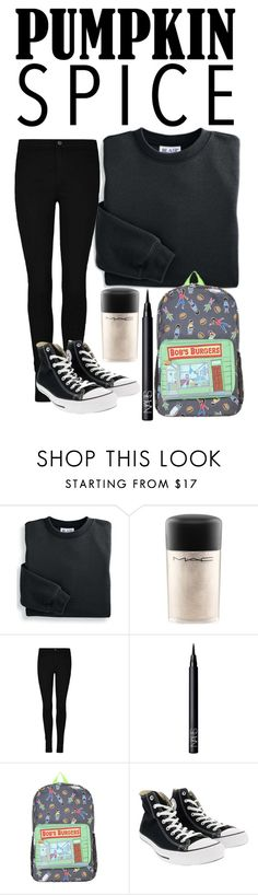 """""""coffee date"""" by xcheerio-kierox ❤ liked on Polyvore featuring Blair, MAC Cosmetics, NARS Cosmetics and Converse"""