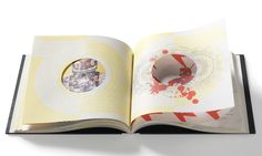 Spread with 'recordsleaves', Japanese binding