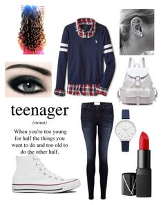 """""""Preppy"""" by larak24 ❤ liked on Polyvore featuring U.S. Polo Assn., Frame Denim, Converse, NARS Cosmetics, Olivia Burton and Cullen"""