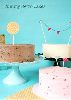 DIY RETRO DECORATIONS AND RED VELVET CAKE