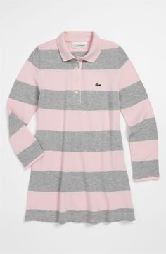 Lacoste Stripe Tunic Polo (Little Girls & Big Girls) available at #Nordstrom