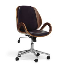Modern Office Chair - Walnut  Black $249.99 $375.00 Retail -33% dotandbo.com