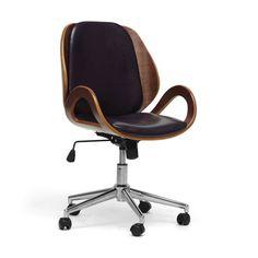 Modern Office Chair - Walnut & Black $249.99 $375.00 Retail -33% dotandbo.com