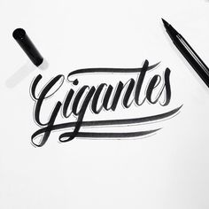 """Hand lettering """"Gigantes"""" by Raphael"""