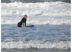 In the surf at Lenox Head beach AUS
