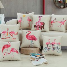 Flamingo Pillow Cover #LVflamingo lvFlamingo.com