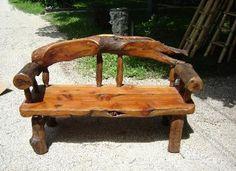 log furniture art | Rustic JUNIPER Solid Wood Furniture