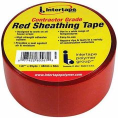 Intertape Intertape Polymer Red Sheathing Tape, 2 inch x 55 yds, Multicolor