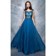 Nina Canacci 9101 Prom Long Dress Long High Neckline Short Sleeve (€280) ❤ liked on Polyvore featuring dresses, gowns, formal dresses, teal, lace gown, blue lace dress, blue formal dresses, long blue dress and formal evening gowns