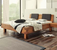 Contemporary Designer Beds » Hasena Pilatus Ivio Sion Character Solid Oak Bed » Hasena Pilatus Ivio Sion Character Solid Oak Bed - Head2Bed UK