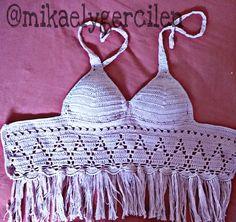Shop stylish women's swimwear at FABKINI & find tankinis, bikinis, one-piece swimsuits, monokinis & more. Crochet Lingerie, Bikinis Crochet, Crochet Bikini Pattern, Crochet Bikini Top, Crochet Top, Crochet Designs, Crochet Patterns, Crochet Videos, Crochet Clothes