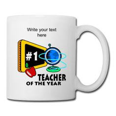 Teacher Of The Year Tea Mug available from PersonalizedSouvenirs.com.