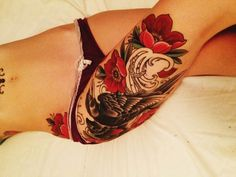 Sexy Thigh tattoo designs and ideas for girls (5)