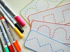 Free Printable Tracing Cards from sol da eira