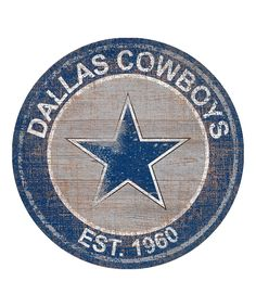 This Dallas Cowboys Heritage Logo Sign by NFL is perfect! #zulilyfinds