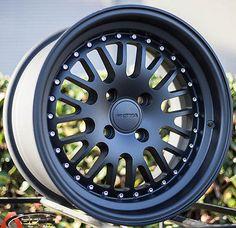 15X8 ROTA FLUSH Wheels 4X100 BLACK RIMS +20MM FITS 4 LUG SCION XB 2004-2007