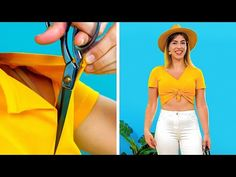 28 STYLISH DIY SUMMER LOOKS WITH ONE CUT - YouTube Recycle Old Clothes, 5 Minute Crafts Videos, Invisible Stitch, Everyday Hacks, Cut Clothes, Diy Crafts Hacks, Diy Clothes Videos, Old Dresses, Stylish Shirts