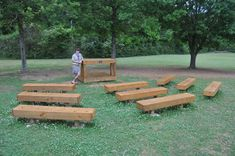 Benches and Workstation for Outdoor Classroom – Eagle Scout Project Showcase Outdoor Learning Spaces, Outdoor Activities For Kids, Classroom Projects, Classroom Design, Classroom Ideas, Outdoor School, Outdoor Classroom, Eagle Scout Project Ideas, Green School