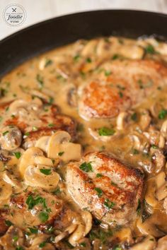 Ready in just 30 minutes, Tender Pork Marsala made with marinated pork tenderloin smothered in a mushroom wine sauce, is perfect for any night of the week.