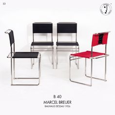 Marcel Breuer's B 40 was originally developed in 1926 as the B 5 for Standard-Moebel. Today, made in Germany, by Tecta.
