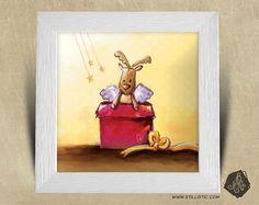 Cadre carré 25x25 cadeau Noël avec Illustration Cadeau Bébé