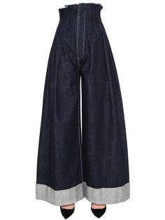 6f002028168 jacquemus - women - jeans - high waisted wide leg denim jeans Wide Leg  Denim