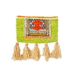 Thorn and Burrow - Yellow Tass clutch