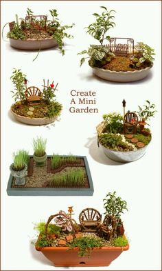 Fairy garden - layout ideas. Great activity for a family reunion. Fun for young and old. Summer crafting at grandma's house for all the grandkids.. plant some memories weave stories to make them dream