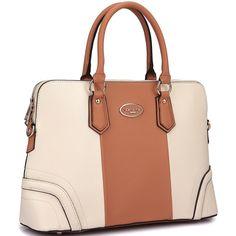 Dasein Colorblock Satchel Briefcase Handbag with Removable Shoulder Strap - 18598059 - Overstock.com Shopping - Big Discounts on Dasein Satchels