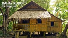 Baha Kubo (Nipa Hut) Typical house in the provinces of the country. Filipino Architecture, Philippine Architecture, Bamboo Architecture, Bahay Kubo Design Philippines, Filipino House, Bamboo House Design, Hut House, Philippine Houses, Philippines Culture