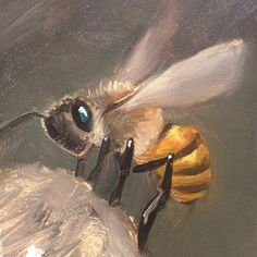 Artist Mark Ryden uses an oil painting technique incorporating layers of subtle glazes. Mark Ryden, Bee Painting, Painting Clouds, I Love Bees, Bee Art, Illustration, Bees Knees, Queen Bees, Bee Keeping