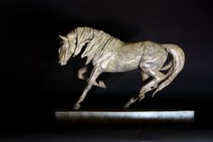 "'Dynamic' bronze limited edition of nine. 13'5"" x 19"""